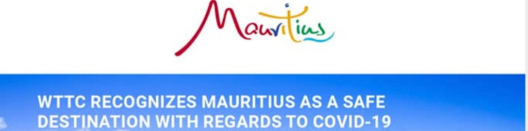 "Mauritius recognised as a ""safe"" destination by WTTC"